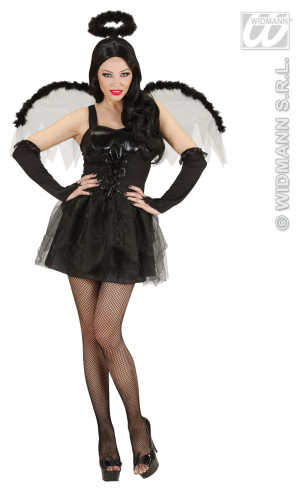 Disfraz de Angel Negro Sexy Talla S