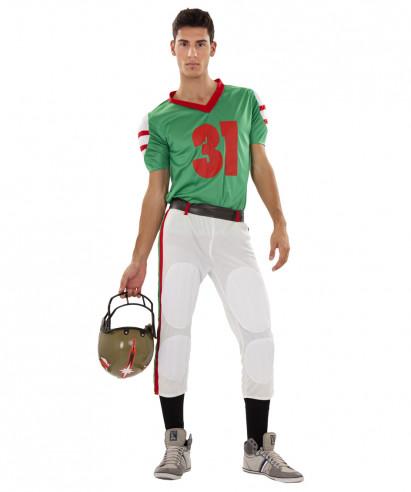 Disfraz de Jugador De Rugby Verde