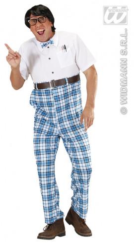 Disfraz Colegial Azul Para Hombre