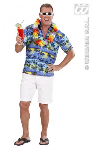 Disfraz Camisa Hawaiana Con Palmeras