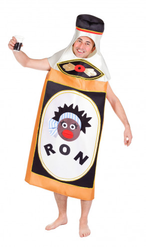 Disfraz De Botellón De Ron Adulto