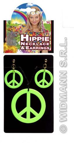 Set Hippie Colgante Y Pendientes Verde