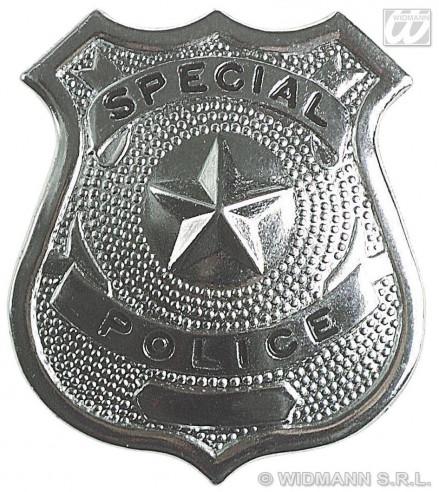 Insignia Policía Metálica