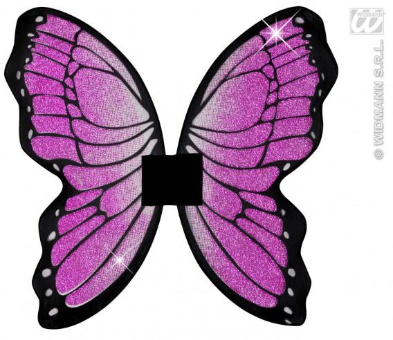Alas Mariposa Con Purpurina