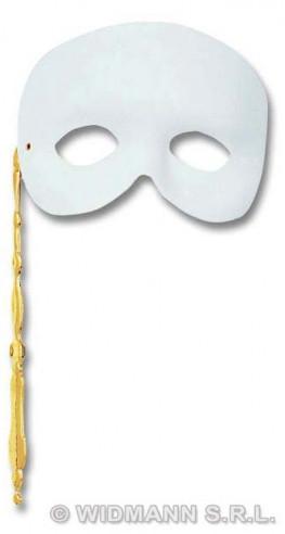 Antifaz Fantasma Con Bastoncillo Blanco