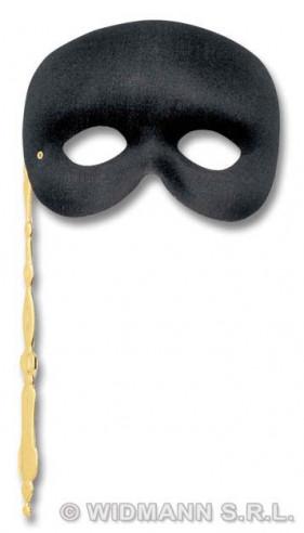 Antifaz Fantasma Con Bastoncillo Negro