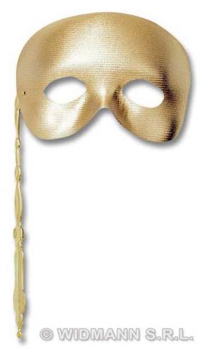 Antifaz Fantasma Con Bastoncillo Dorado