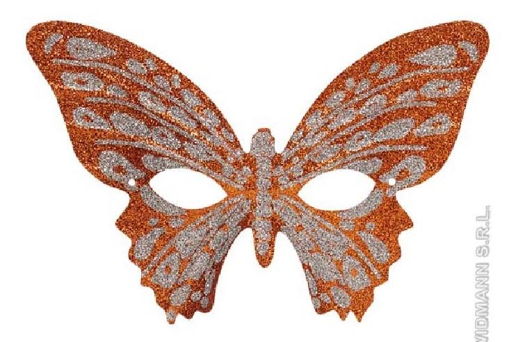 Antifaz Mariposa Purpurina Bicolor...