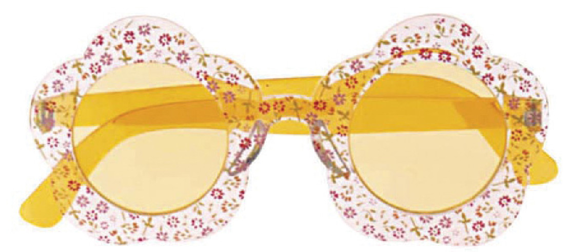 Gafas Hippie Flores Amarillas
