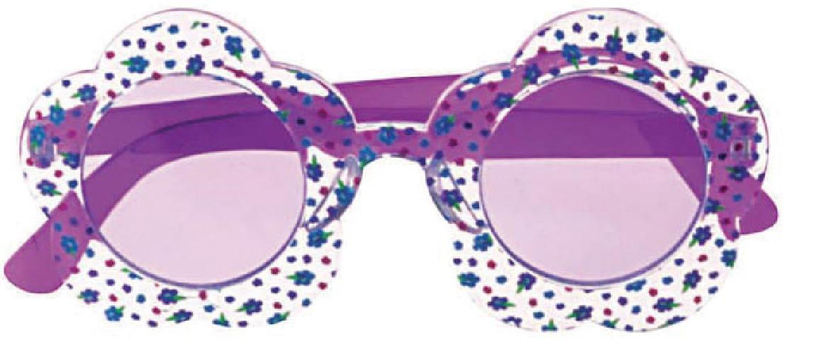 Gafas Hippie Flores Moradas