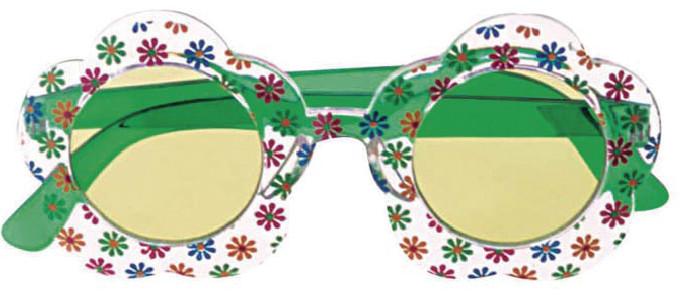 Gafas Hippie Flores Verdes