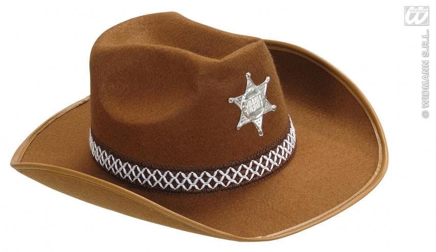 Sombrero Adulto Sheriff Fieltro Marrón