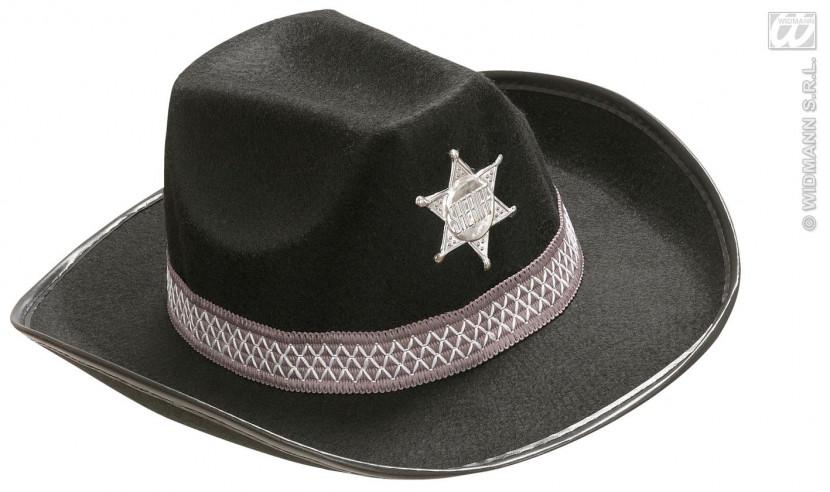 Sombrero Infantil Sheriff Fieltro Negro