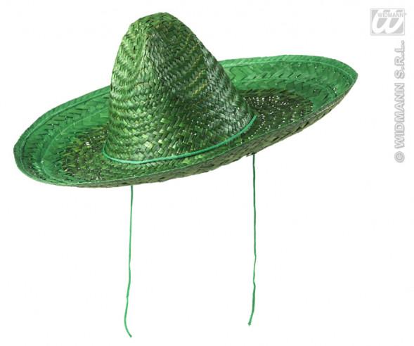Sombrero De Paja Verde 48 Cm