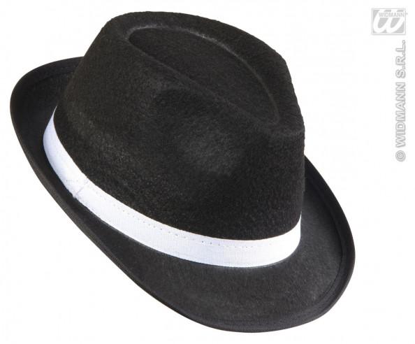 Sombrero Ganster Con Cinta Blanca