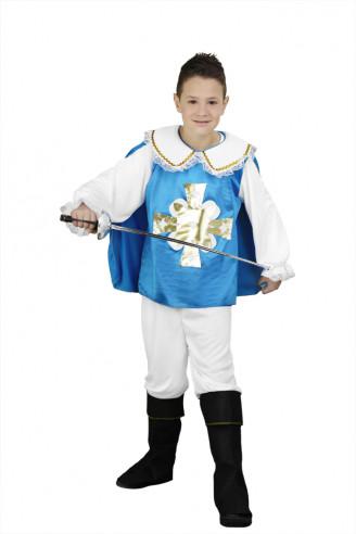 Disfraz Mosquetero Azul Niño