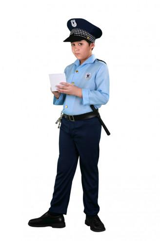 Disfraz azul Policía Local Niño