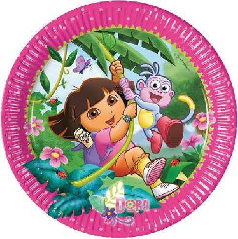 10 Platos Cumpleaños Dora Exploradora