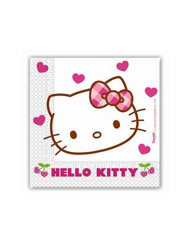 20 Servilletas Cumpleaños Hello Kitty...