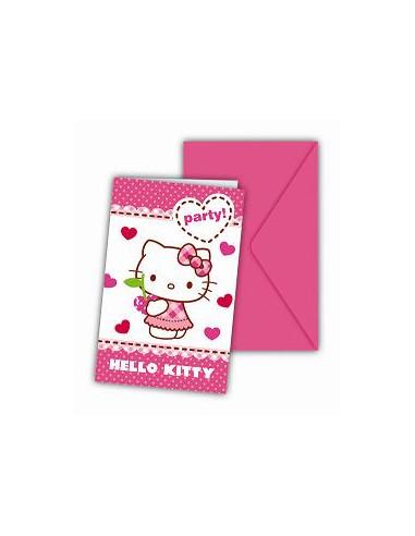 Invitaciones Cumpleaños Hello Kitty...