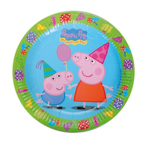 8 Platos para Cumpleaños de Peppa Pig...