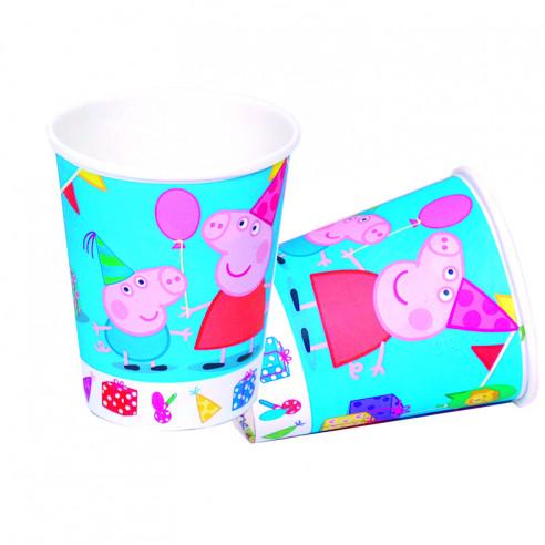 8 Vasos para  Cumpleaños de Peppa Pig