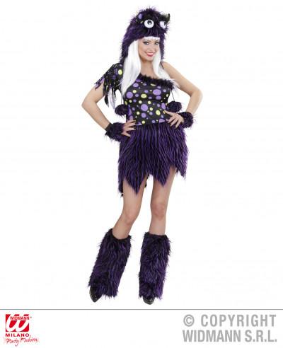 Disfraz de Chica monstruosa lujo violeta