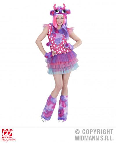 Disfraz de chica monstruosa rosa