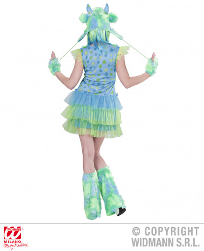 Disfraz de Chica monstruosa verde