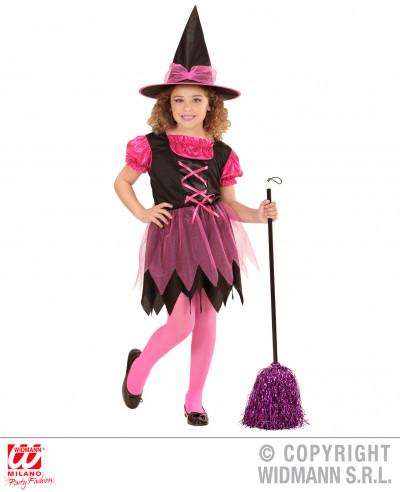 Disfraz de bruja para niña rosa