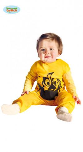 Disfraz de calabaza amarillo para bebé