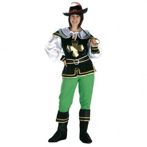 Disfraz Mosquetera Verde