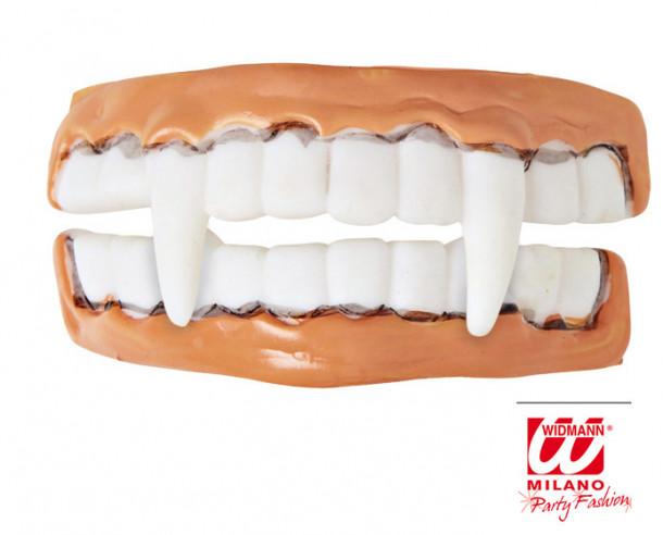 Dentadura de miedo color carne