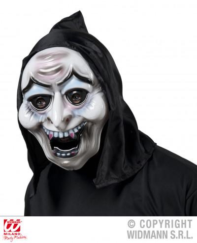 Máscara de plástico de bruja con capucha