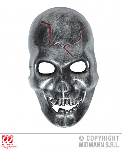 Máscara metálica de calavera