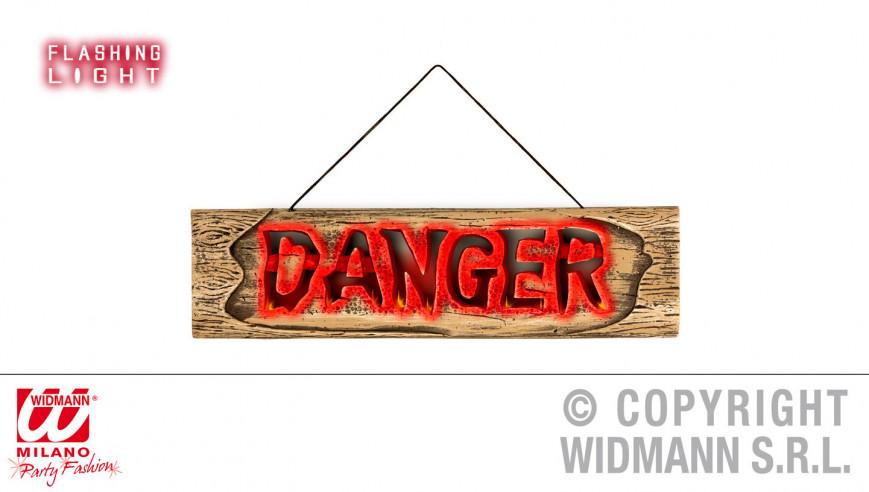 """Señal """"Danger"""" con luces..."""
