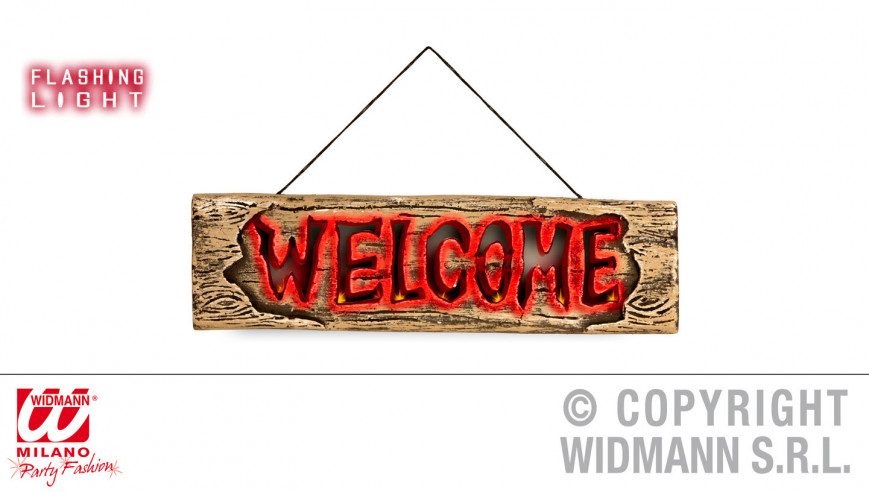"Señal ""Welcome"" con luces..."