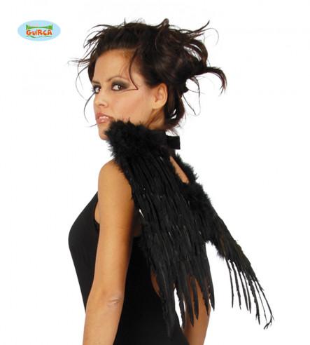 Alas con plumas negras 50cm