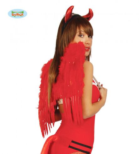 Alas con plumas rojas 50cm