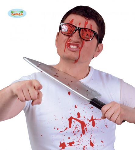 Gafas con sangre