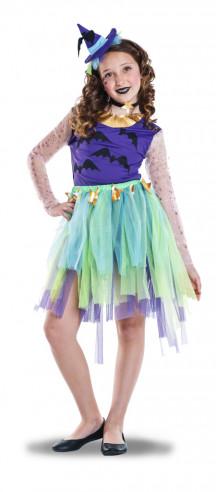 Disfraz de bruja para niña azul