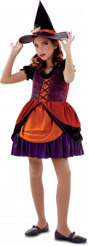 Disfraz de bruja para niña naranja