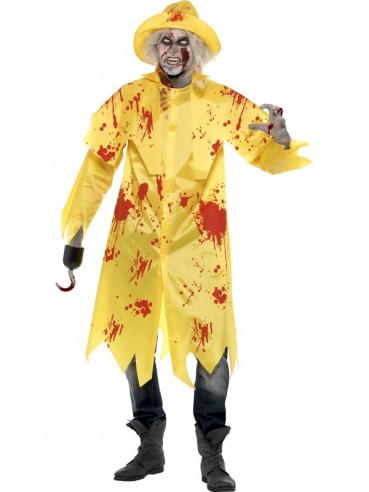 Disfraz de zombie con chubasquero