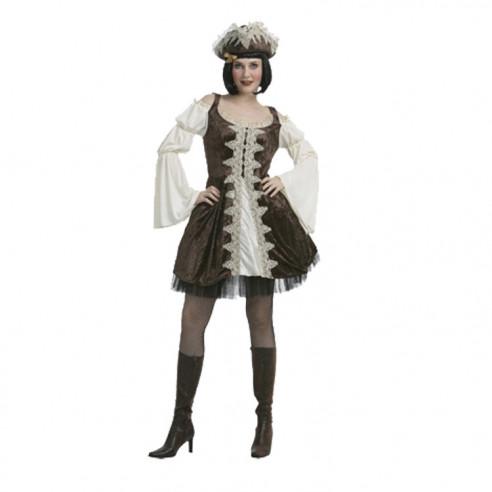 Disfraz Pirata Lujo Marrón Mujer