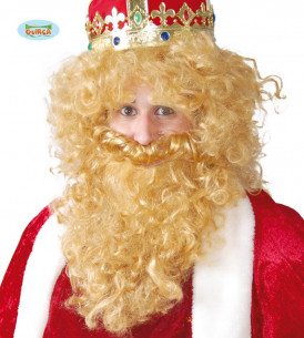 Barba Rey Mago y peluca
