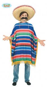 Disfraz Mexicano Azul Adulto