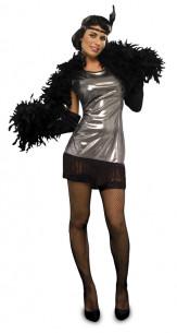 Disfraz Charleston Plata Mujer
