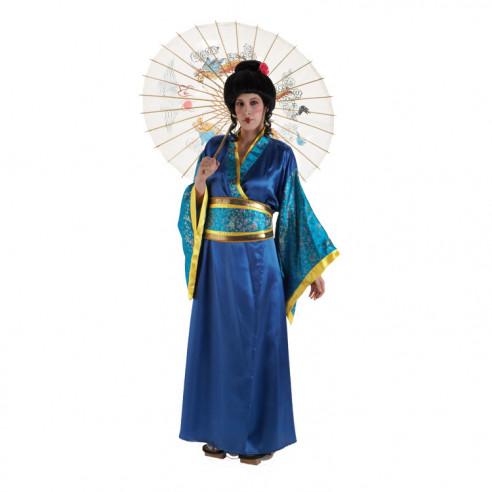 Disfraz Geisha Azul