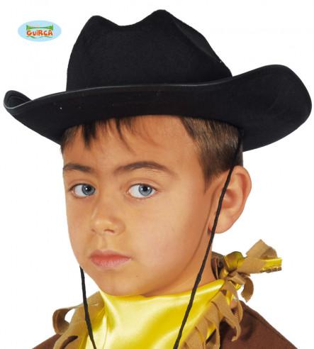 Sombrero Fieltro Vaquero Negro Infantil