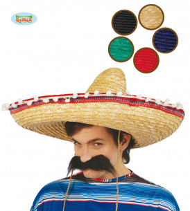 Sombrero Mejicano Negro 55 cm.
